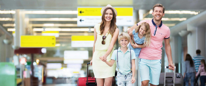 Happy family trip
